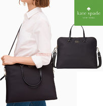 kate spade new york Casual Style Nylon A4 2WAY Plain Office Style Bags
