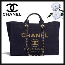 CHANEL Casual Style Unisex Canvas Blended Fabrics Street Style A4