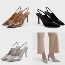 Charles&Keith Casual Style Plain Elegant Style High Heel Pumps & Mules