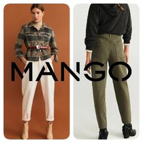 MANGO Denim Plain Cotton Medium Wide & Flared Jeans