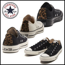 CONVERSE ALL STAR Leopard Patterns Casual Style Unisex Faux Fur