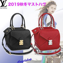 Louis Vuitton TAURILLON Casual Style 2WAY Plain Leather Party Style Purses