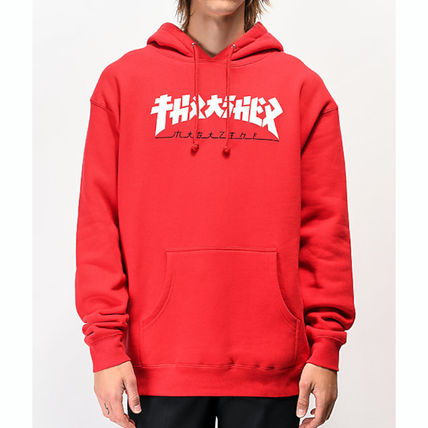 Pullovers Street Style Long Sleeves Logo Skater Style