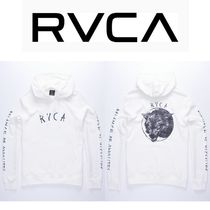 RVCA Pullovers Unisex Street Style Long Sleeves Plain Hoodies