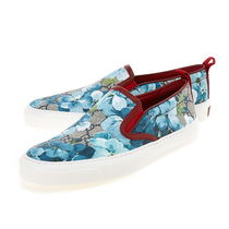 GUCCI GG Supreme Flower Patterns Casual Style Slip-On Shoes