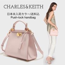 Charles&Keith Casual Style 2WAY Plain Party Style Elegant Style Handbags
