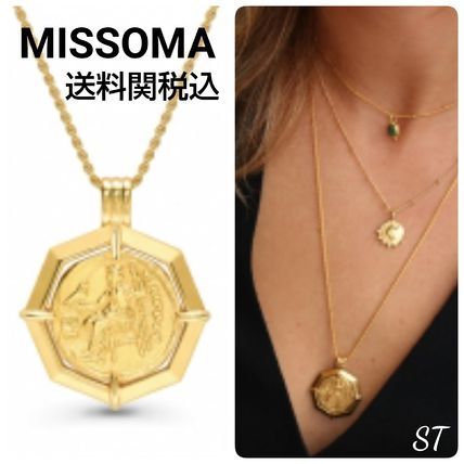 Casual Style Coin Collaboration Chain 18K Gold