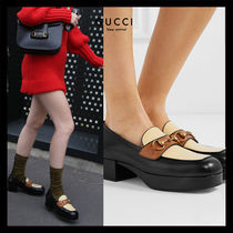 GUCCI Ace Platform Casual Style Unisex Blended Fabrics Street Style