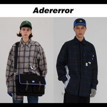 ADERERROR Other Check Patterns Unisex Wool Street Style Long Sleeves