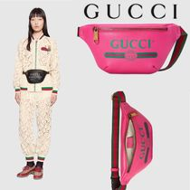 GUCCI Casual Style Bag in Bag Leather Logo Bags