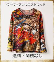 Vivienne Westwood Crew Neck Flower Patterns Star Dots Monogram Unisex Bi-color