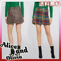 Alice+Olivia Pencil Skirts Short Other Check Patterns Zigzag Casual Style
