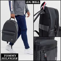 Tommy Hilfiger Monogram Unisex Faux Fur Backpacks