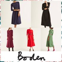 Boden Flared Boat Neck Cropped Plain Medium Home Party Ideas