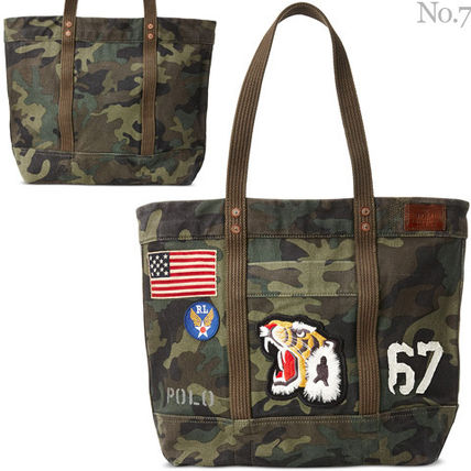 Camouflage Unisex Canvas Street Style A4 Totes
