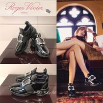 Roger Vivier Platform Rubber Sole Plain Leather Platform & Wedge Sneakers