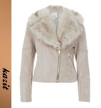 River Island Faux Fur Biker Jackets