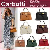 CARBOTTI Casual Style Leather Office Style Elegant Style Handbags