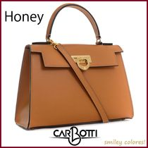 CARBOTTI Casual Style Leather Office Style Elegant Style
