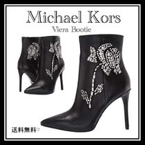 Michael Kors Leather Pin Heels Party Style With Jewels Elegant Style