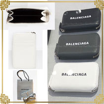 BALENCIAGA EVERYDAY TOTE Unisex Plain Leather Coin Cases