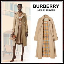 Burberry Casual Style Cashmere Street Style Chain Plain Long