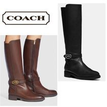 Coach Leather Flat Boots