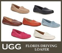 UGG Australia Rubber Sole Plain Leather Office Style Flats
