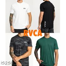 RVCA Camouflage Street Style Plain Oversized T-Shirts