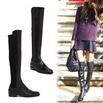 Stuart Weitzman Round Toe Suede Plain Over-the-Knee Boots