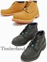 Timberland Square Toe Platform Casual Style Street Style Plain Leather