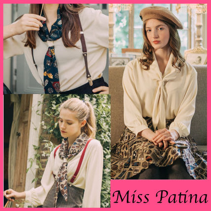 Long Sleeves Elegant Style Shirts & Blouses