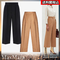 MaxMara Casual Style Wool Plain Elegant Style Cropped & Capris Pants