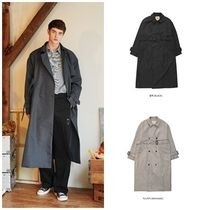 WV PROJECT Unisex Street Style Oversized Trench Coats