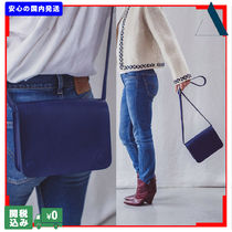 THE SMALL HOME Casual Style Plain Leather Shoulder Bags