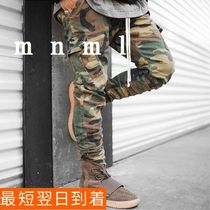 MNML Camouflage Blended Fabrics Street Style Cotton Cargo Pants