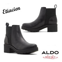 ALDO Platform Mountain Boots Round Toe Casual Style Plain Leather