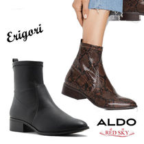 ALDO Platform Casual Style Plain Other Animal Patterns Leather
