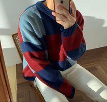 ASCLO Crew Neck Wool Long Sleeves Oversized Sweaters