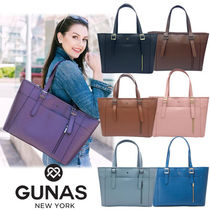 GUNAS Casual Style Faux Fur A4 Plain Office Style Elegant Style