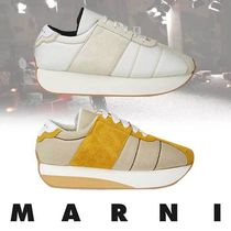 MARNI Suede Street Style Plain Leather Oxfords