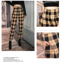 Other Check Patterns Casual Style Long Midi Elegant Style