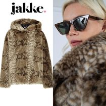 Jakke Other Animal Patterns Medium Cashmere & Fur Coats