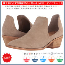 CHINESE LAUNDRY Casual Style Plain Chunky Heels Ankle & Booties Boots