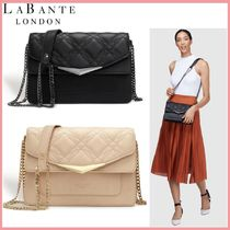 LABANTE LONDON Faux Fur 2WAY Plain Party Style Crossbody Logo Party Bags