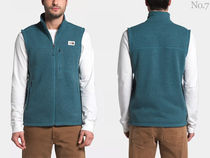 THE NORTH FACE Street Style Plain Khaki Logo Outdoor Vests & Gillets