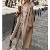 Casual Style Long Sleeves Long Cardigans