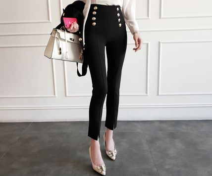 Plain Toe Casual Style Pin Heels Party Style Office Style