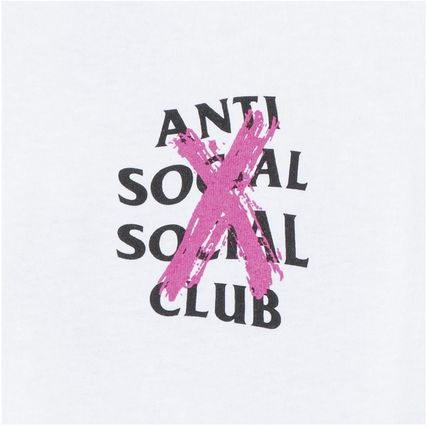 ANTI SOCIAL SOCIAL CLUB More T-Shirts Unisex Street Style Cotton Logo T-Shirts 5