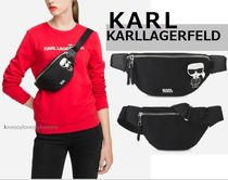 Karl Lagerfeld Casual Style Unisex Nylon Shoulder Bags